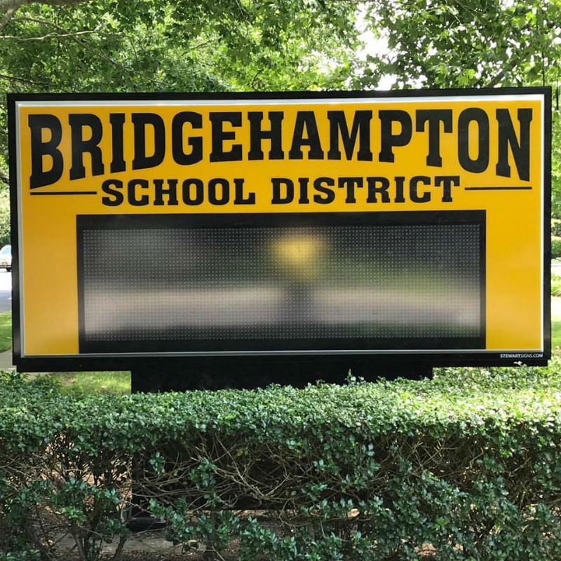 LED signs, bridgehampton school district, custom LED signs
