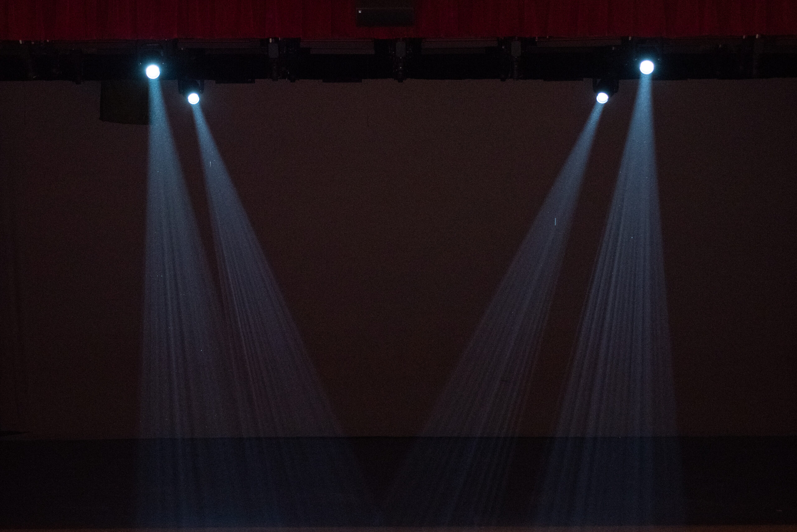 Spotlights on the stage