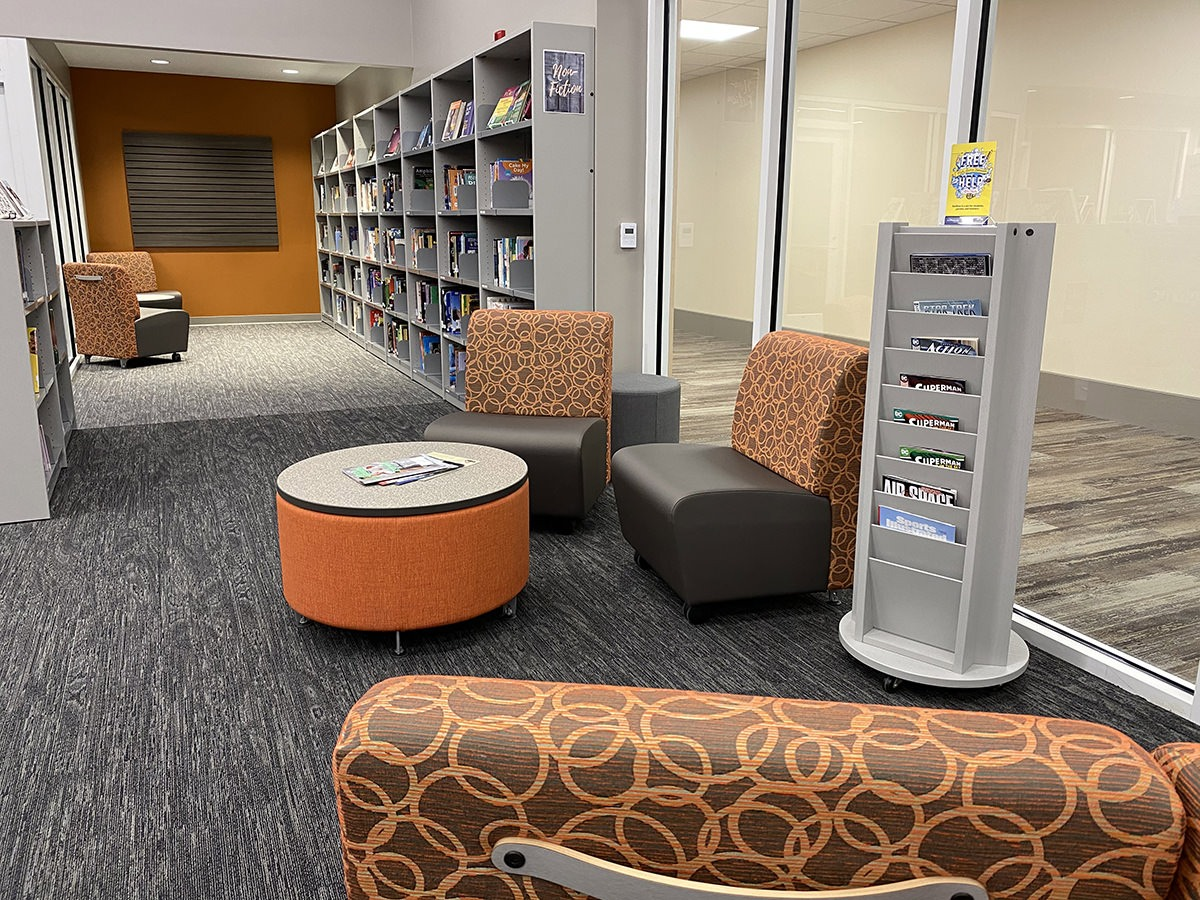 teen center library seating